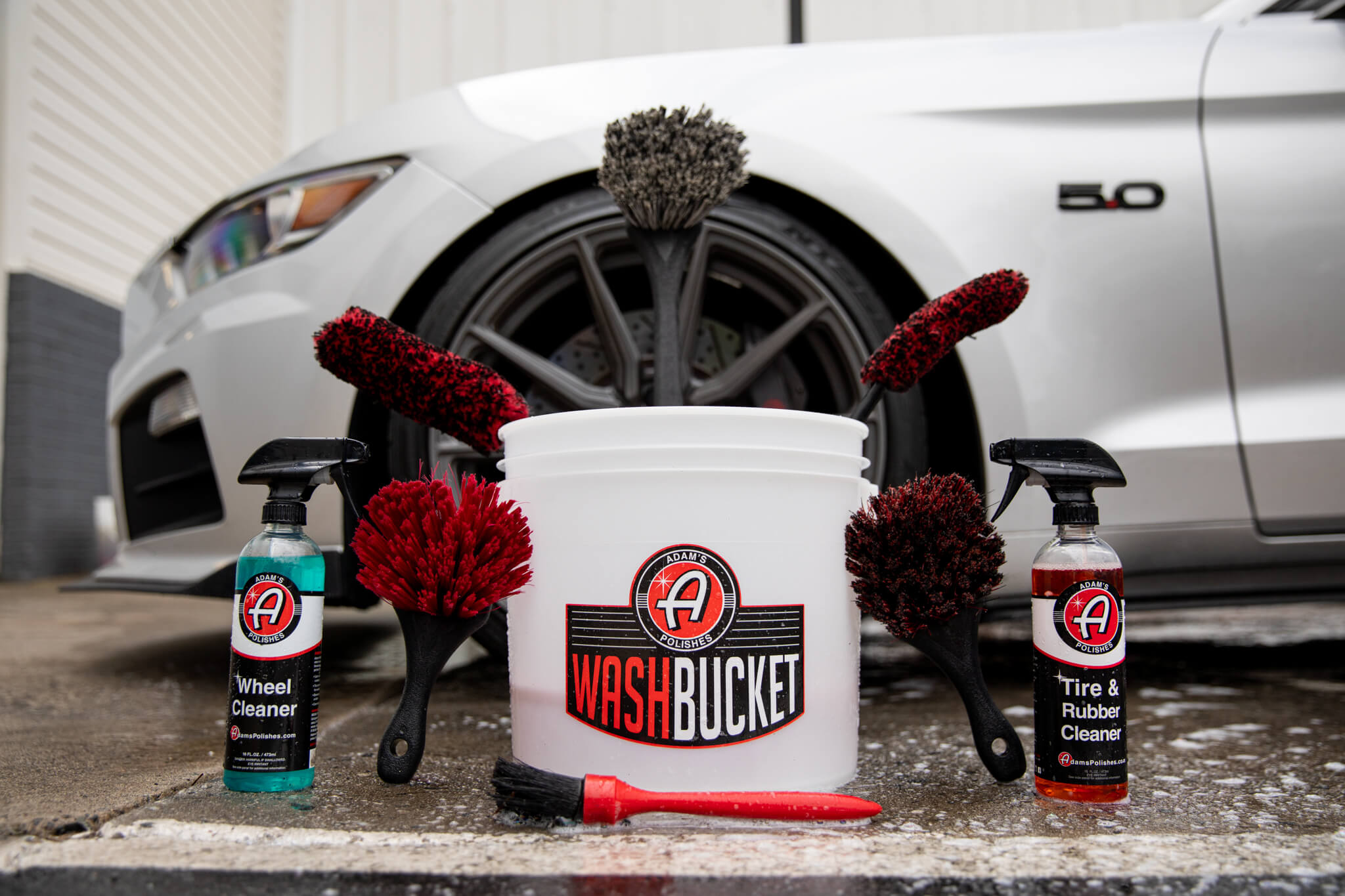 Cleaning your wheels and tires with Adam's Polishes
