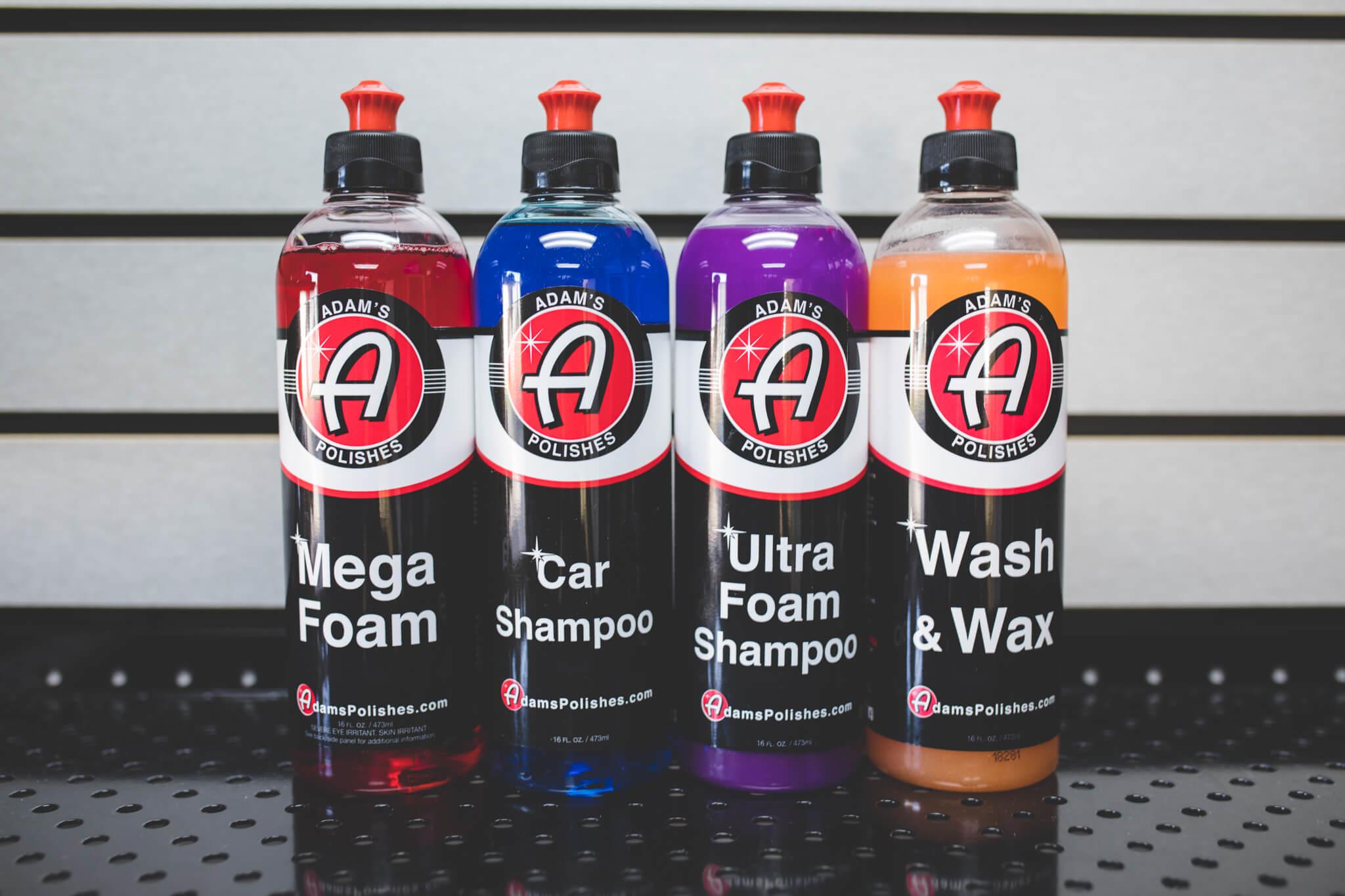 Adam's Car Shampoo vs Ultra Foam vs Mega Foam vs Wash & Wax